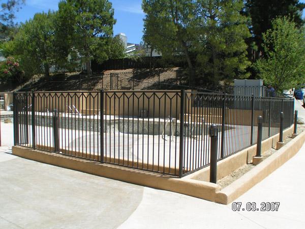 custom metal fence