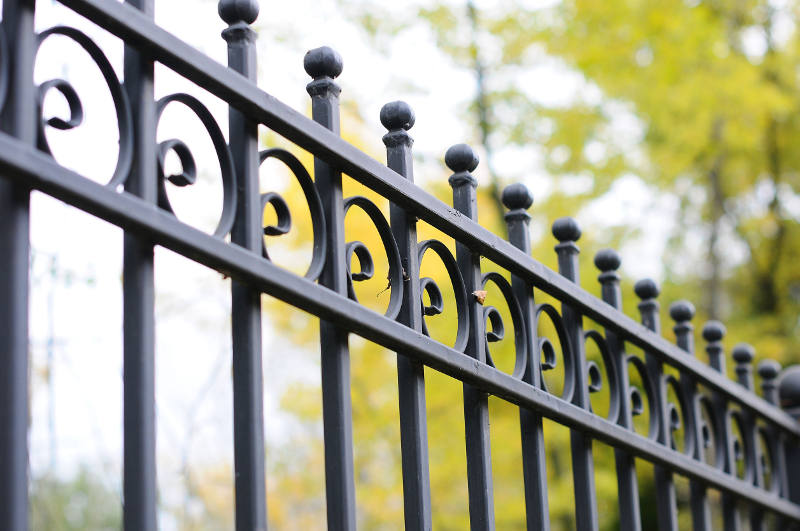 custom design iron fence