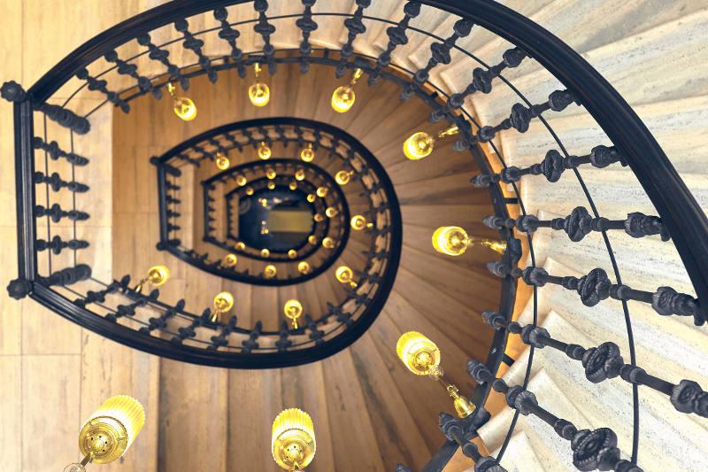 custom design iron staircase